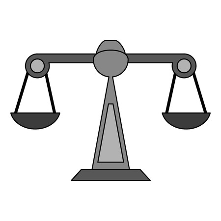 weigh machine: Balance scale over white background vector illustration Illustration