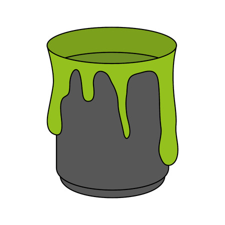 paint can: Paint can over white background vector illustration