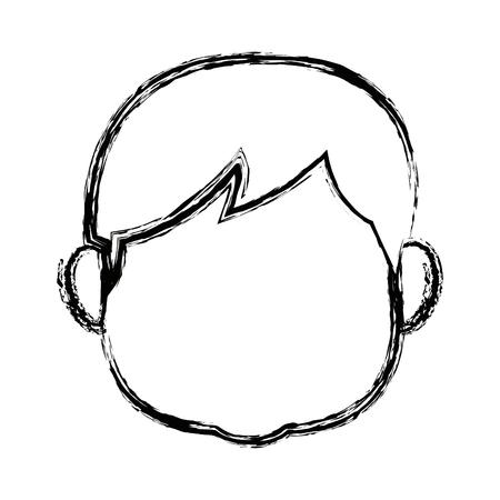 portrait boy grandson person image vector illustration