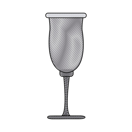 cup glassware crystal for beverage icon vector illustration