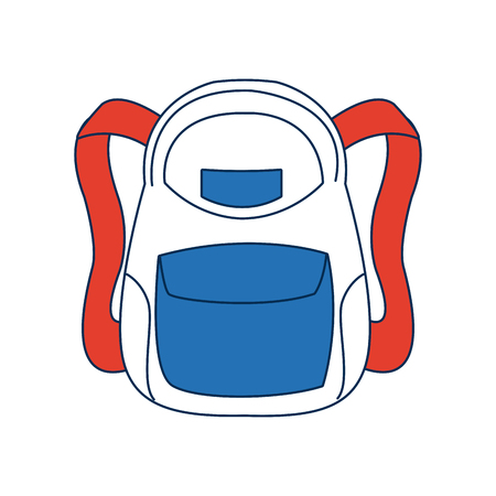 school backpack bag accessory fashion vector illustration