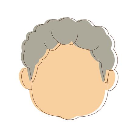 portrait grandfather man family person vector illustration