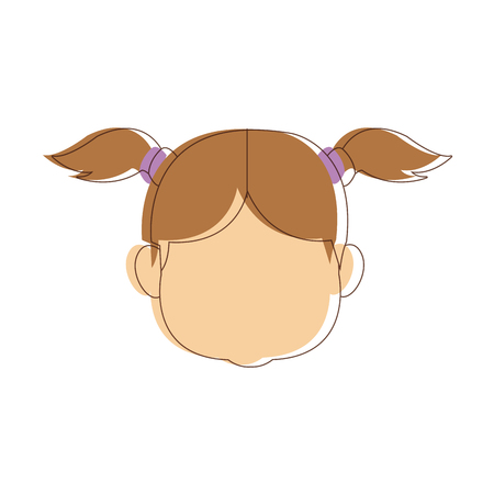 happy portrait girl granddaughter young image vector illustration