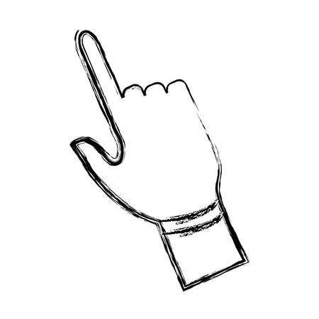 hand touch: click hand icon pointer finger cursor vector illustration Illustration
