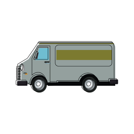 car van commercial vehicle delivery service vector illustration