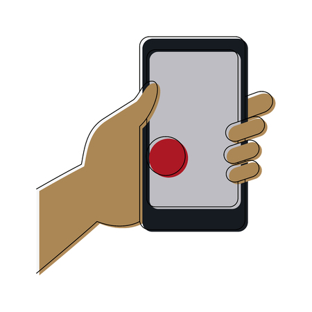 hand holding smartphone with pin map app