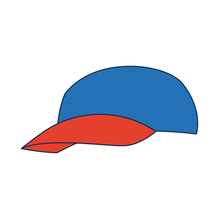 cap of man delivery accessory clothes uniform vector Illustration Illustration