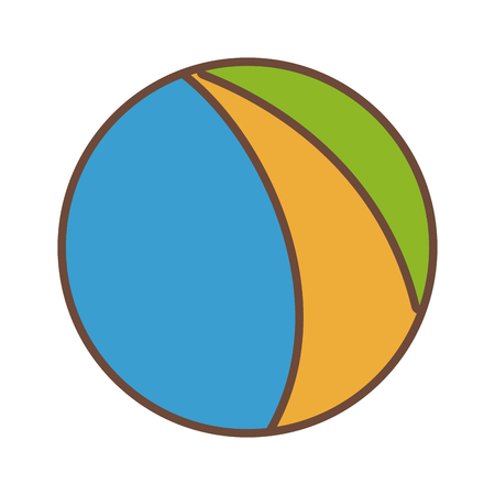 inflatable ball: beach ball colors funny plastic icon vector illustration