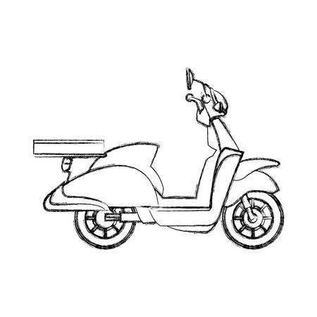 Delivering motorcycle business transport service vector illustration Illustration