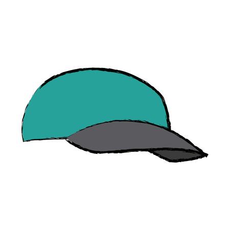 Cap for delivery uniform accessory vector illustration