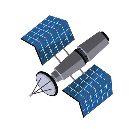 A satellite wireless technology world global net vector illustration.