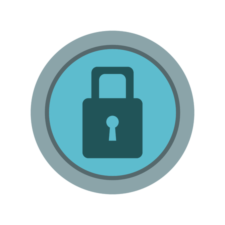 A security protection padlock keyhole close symbol vector illustration. Illustration