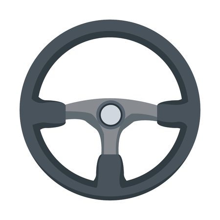 A steering wheel car auto control icon vector illustration.