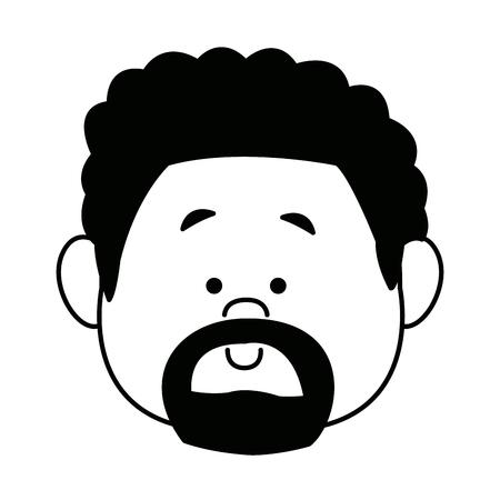 cartoon face man person avatar male profile vector illustration
