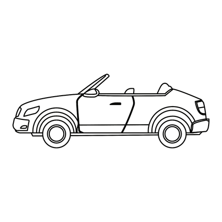 car speed: convertible car sport luxury elegant vehicle vector illustration Illustration