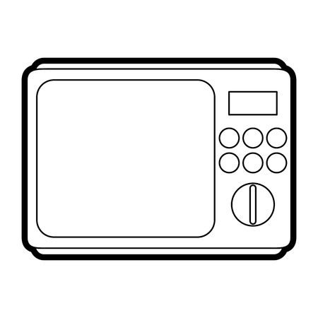 Microwave oven household electric appliance icon image vector illustration