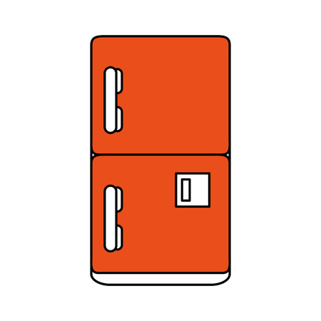 fridge household electric appliance icon image vector illustration design Illustration