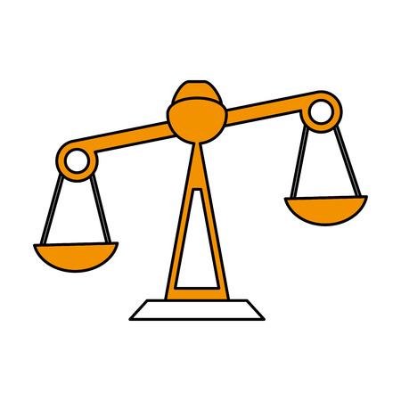 A justice scale icon image vector illustration design.