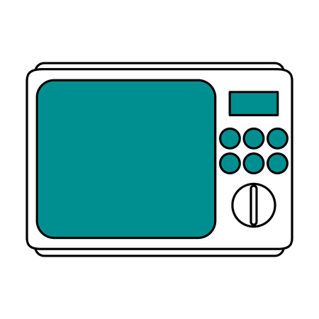 A microwave oven household electric appliance icon image vector illustration design.