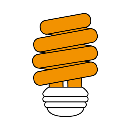 Flat line compact fluorescent lamp with a hint of color over white background