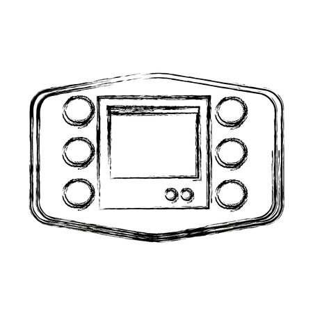 wireless: gps navigator technology of car wireless vector illustration Illustration