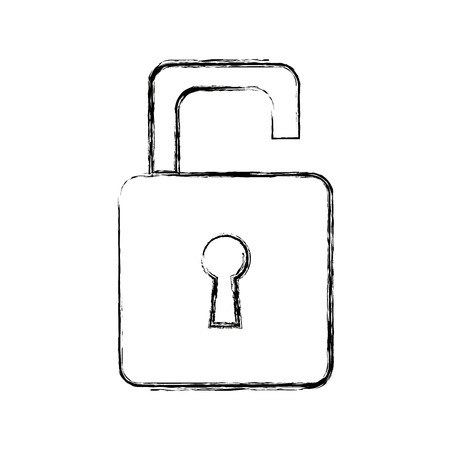 security protection padlock keyhole open symbol vector illustration Stock Vector - 82614912