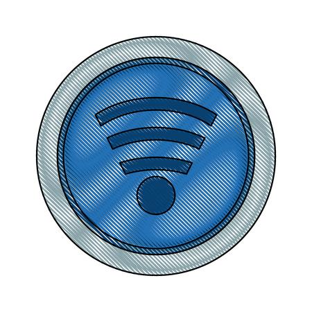 wireless: wifi icon wireless internet sign communication technology symbol vector illustration