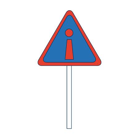 Signe d'attention de danger avec signe d'exclamation illustration vectorielle symbole