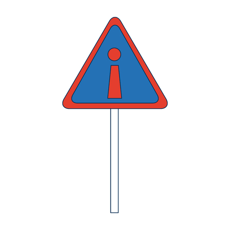 hazard warning attention sign with exclamation mark symbol vector illustration Illustration