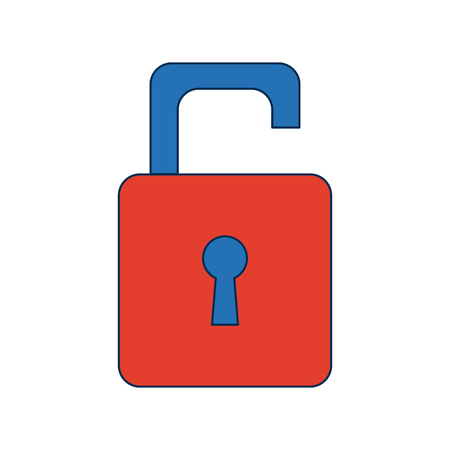 security protection padlock keyhole open symbol vector illustration