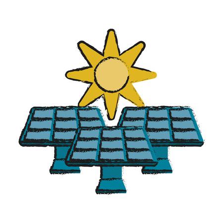 Solar energy innovation icon vector illustration sketch  graphic Illustration