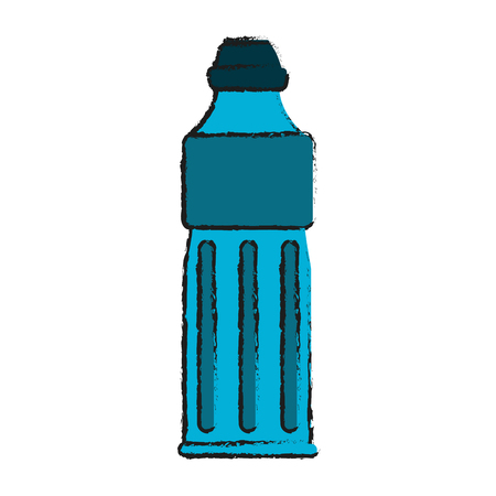 Big water bottle icon vector illustration sketch  graphic