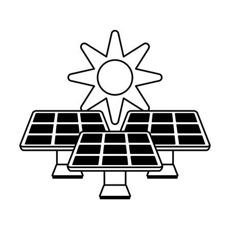 Solar energy innovation icon vector illustration paint  graphic Illustration
