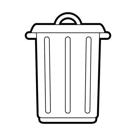 Big garbage ecological jar icon vector illustration design graphic Illustration