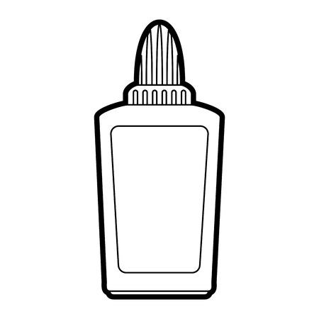 ballpen: glue school supply icon image vector illustration paint Illustration