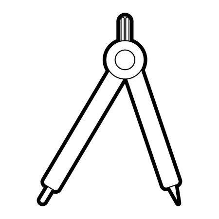 ballpen: drawing compass school supply icon image vector illustration paint