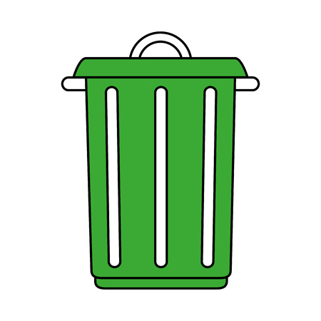 Big garbage ecological jar icon vector illustration design graphic Illustration