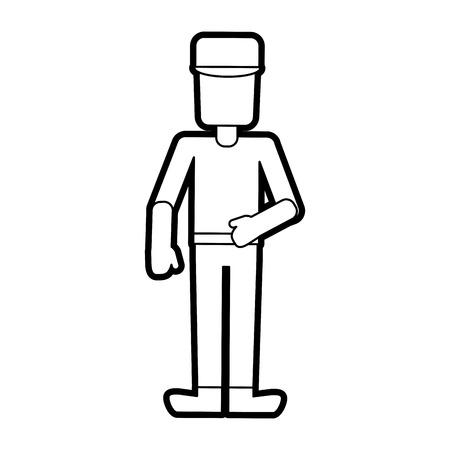 man stretching arms avatar icon image vector illustration design Illustration