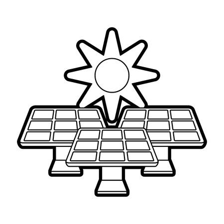 Solar energy innovation icon vector illustration design graphic