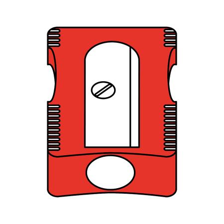 ballpen: pencil sharpener school supply icon image vector illustration flat