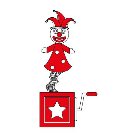 jack in the box toy icon image vector illustration flat Ilustração