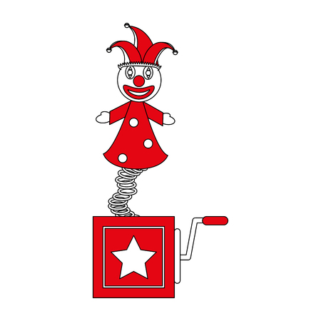 jack in the box toy icon image vector illustration flat Illustration