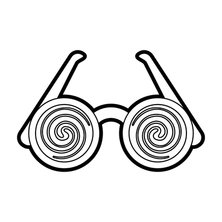 humorous: crazy glasses with brows toy icon image vector illustration paint Illustration