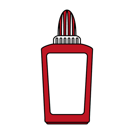 ballpen: glue school supply icon image vector illustration flat Illustration