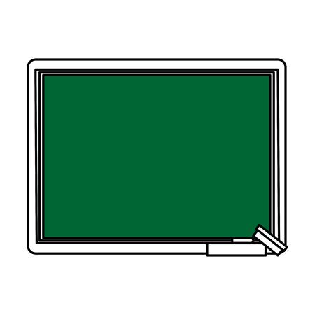 ballpen: chalk board with school supply icon image vector illustration flat Illustration