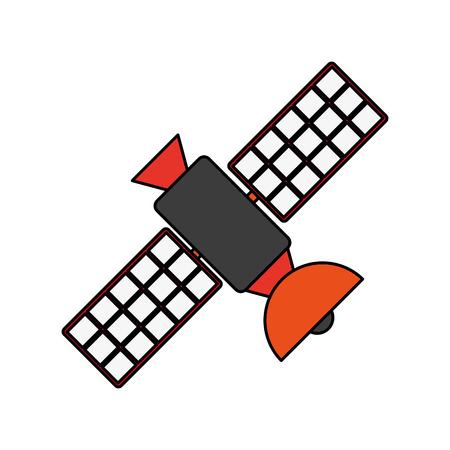 transmisja satelitarna telekomunikacja ikona obrazu wektor ilustracja płaski