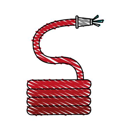 garabatos: Manguera herramienta de jardinería icono ilustración vectorial ilustración garabato