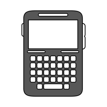 wireless: blank screen cellphone with buttons icon image vector illustration design