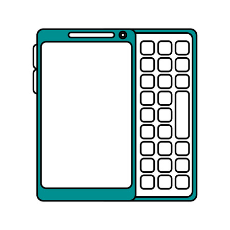 responsive: blank screen cellphone with buttons icon image vector illustration design