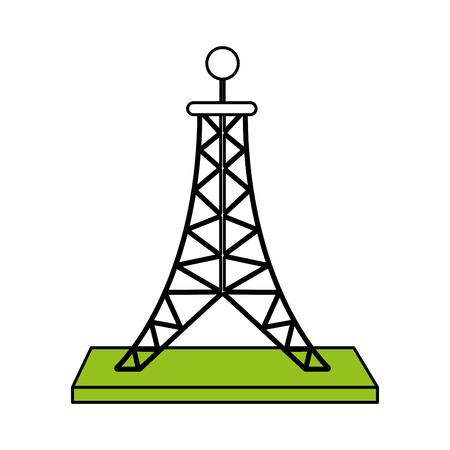 antenna telecommunication icon image vector illustration design Illustration